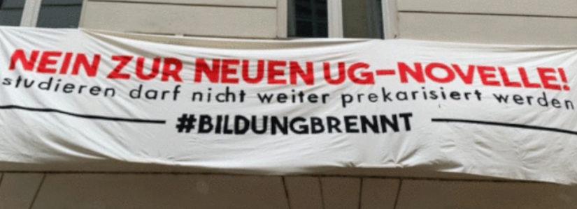 Proteste gegen Änderung des Universitätsgesetzes in Österreich