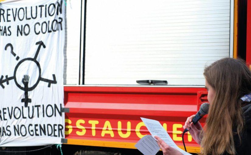 Demo zum  Feministischen Kampftag am 8. März